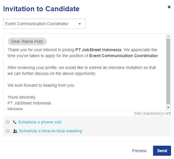 Undangan Wawancara Jobstreet Employer Indonesia